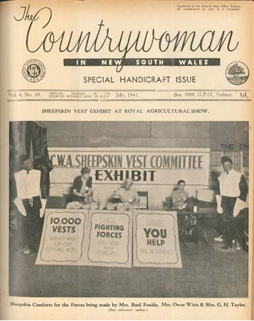 Countrywoman of NSW 1941 July CWA Sheepskin Vests
