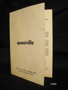 Camden Theatre Group Programme Quasiville 1960