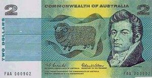 1966 Australian $2 note