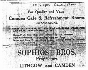 Advertisement Camden News28 June 1923