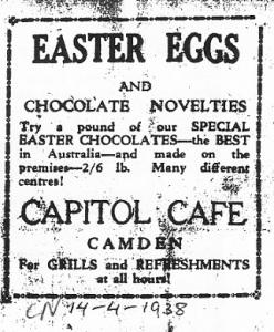 Advertisement Camden News 14 April 1938