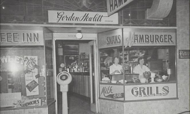 Howlett's Cafe, Camden, 159 Argyle Street, 1954