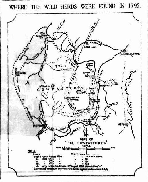 Map of Cowpastures SMH 13 August 1932