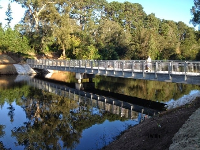 Little Sandy Footbridge after completion of work 2014 (I Willis)