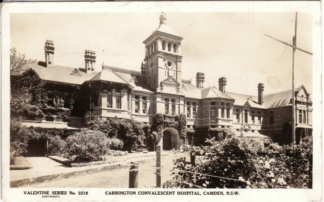 Carrington Convalescent Hospital, Camden, NSW. (Valentine)