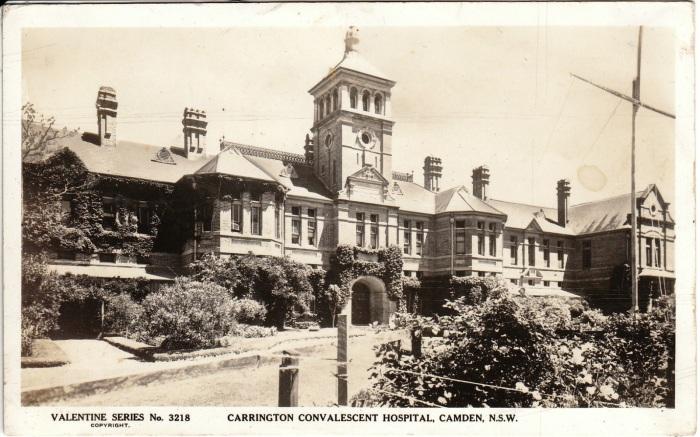 Carrington Convalescent Hospital, Camden, NSW. (Valentine)
