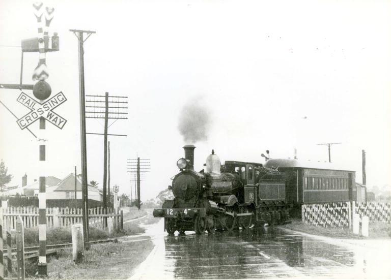 Pansy Camden train crossing Hume Hwy L Manny Camden Images
