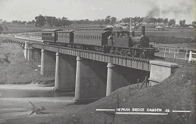 Pansy Nepean River Bridge 1900Postcard Camden Images