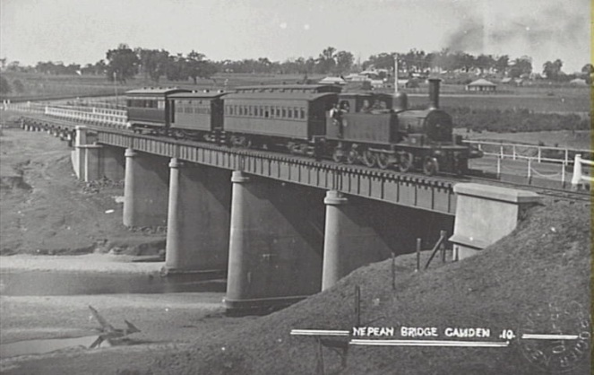 Pansy Nepean River Bridge 1900Postcard Camden Images