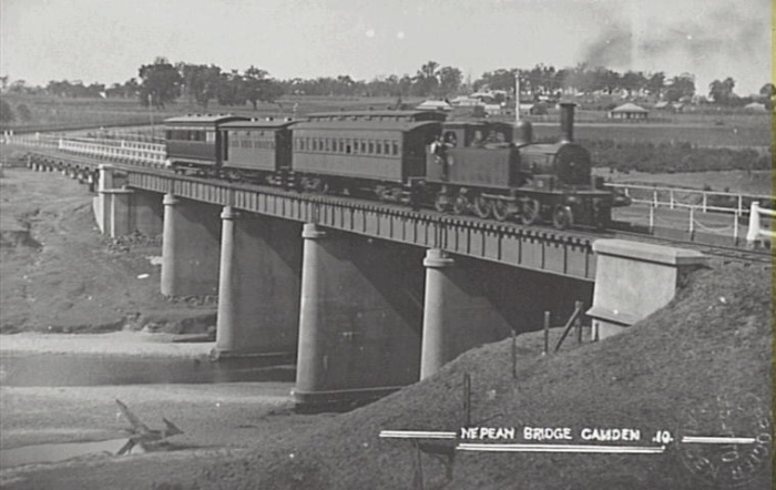 Cowpasture Nepean River Road Rail Bridge 1900 Postcard Camden Images
