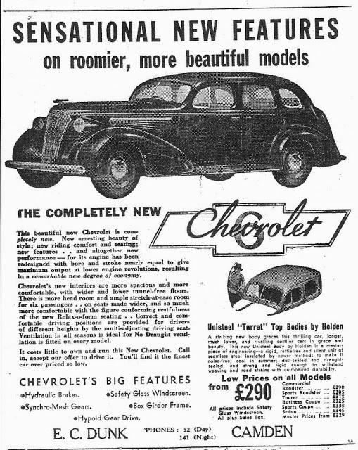 Camden Advertiser 14 August 1938