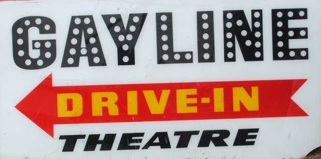 Signage from the Gayline Drive-In Movie Theatre at Narellan (I Willis)