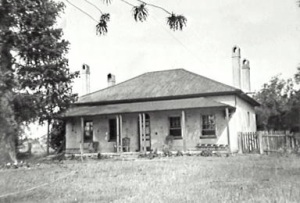 Leumeah House originally built by John Warby on his grant of Leumeah in 1820s. (Campbelltown Library)