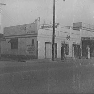 Silver Star Garage operated by Charles Tripp in Queens Street Campbelltown c.1940s (The History Buff)
