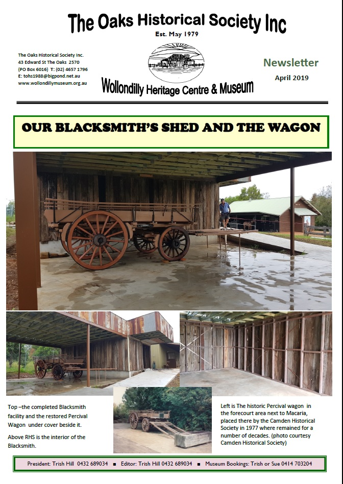 The Oaks Cover Newsletter 2019 Wagon Restoration