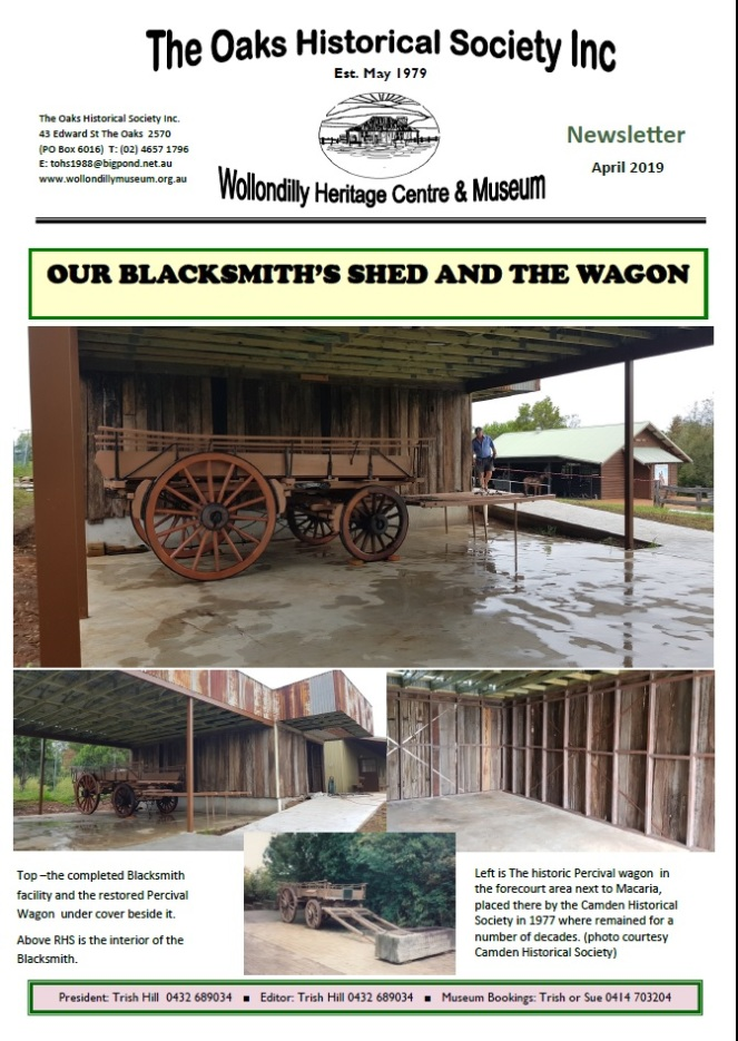 The Oaks Cover Newsletter 2019 Wagon Restoration