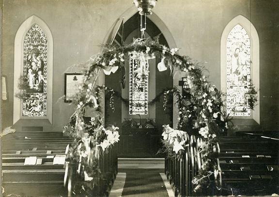 Cobbitty St Pauls Church Interior 1928 Wedding Marg McIntosh&Keith Whiteman CIPP