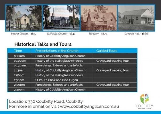 Cobbitty Ch 190 Anniv Activites 2017
