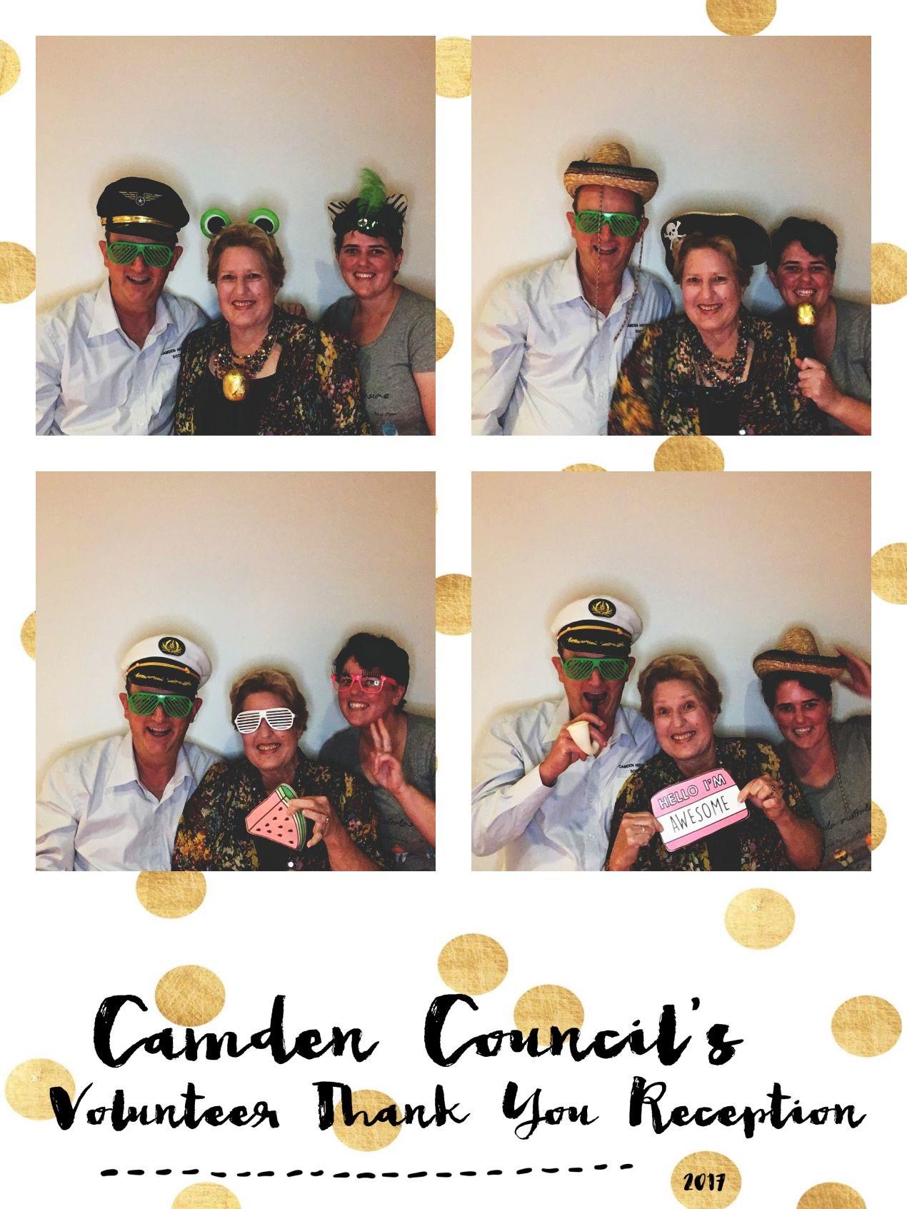 Camden Volunteers Night PhotoBooth 2017.