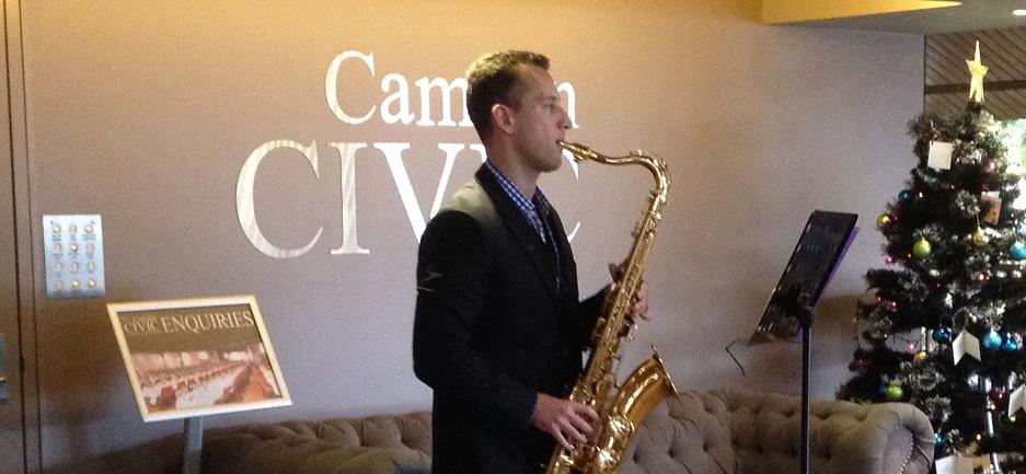 Camden Volunteers Night Will Saxophone 2017.