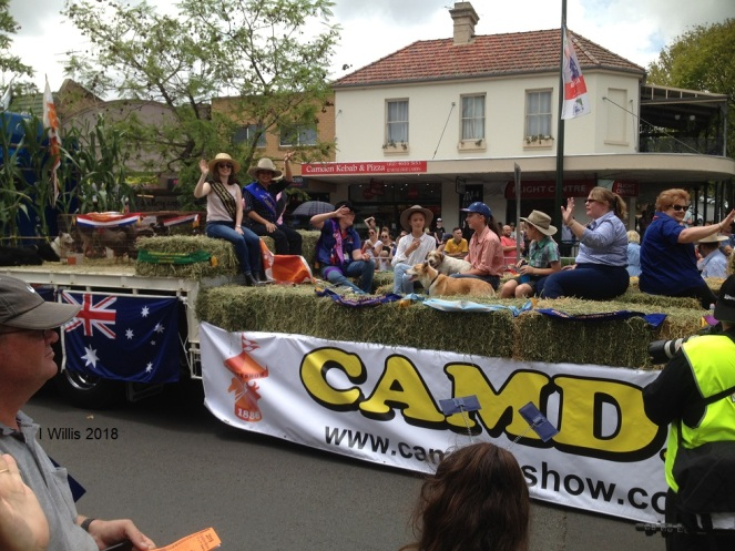 Aust Day 2018 Camden Show Float Miss Showgirl