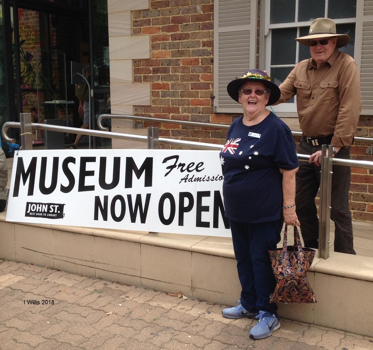 Aust Day 2018 Museum Open Frances&Harry
