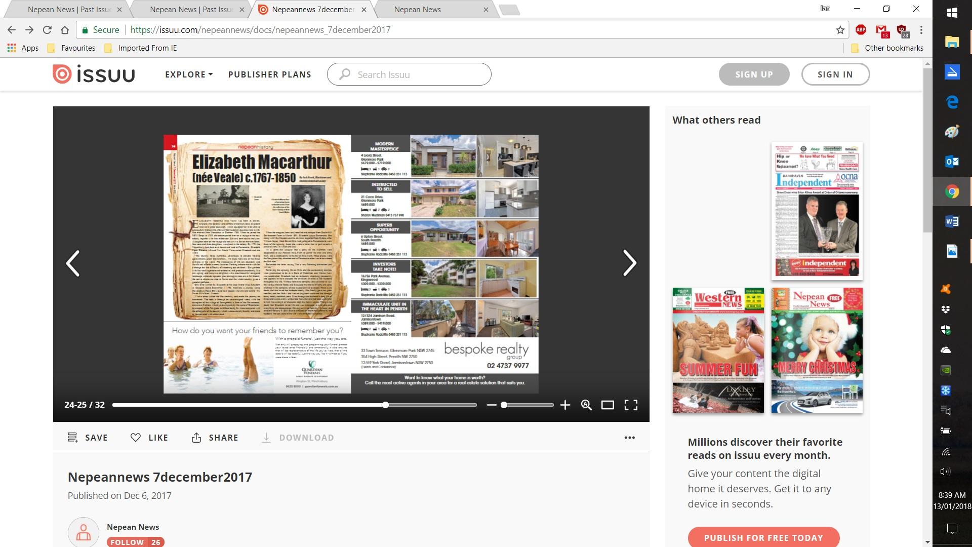 Nepean News Screenshot [2] 2018-01-13 08.39.47