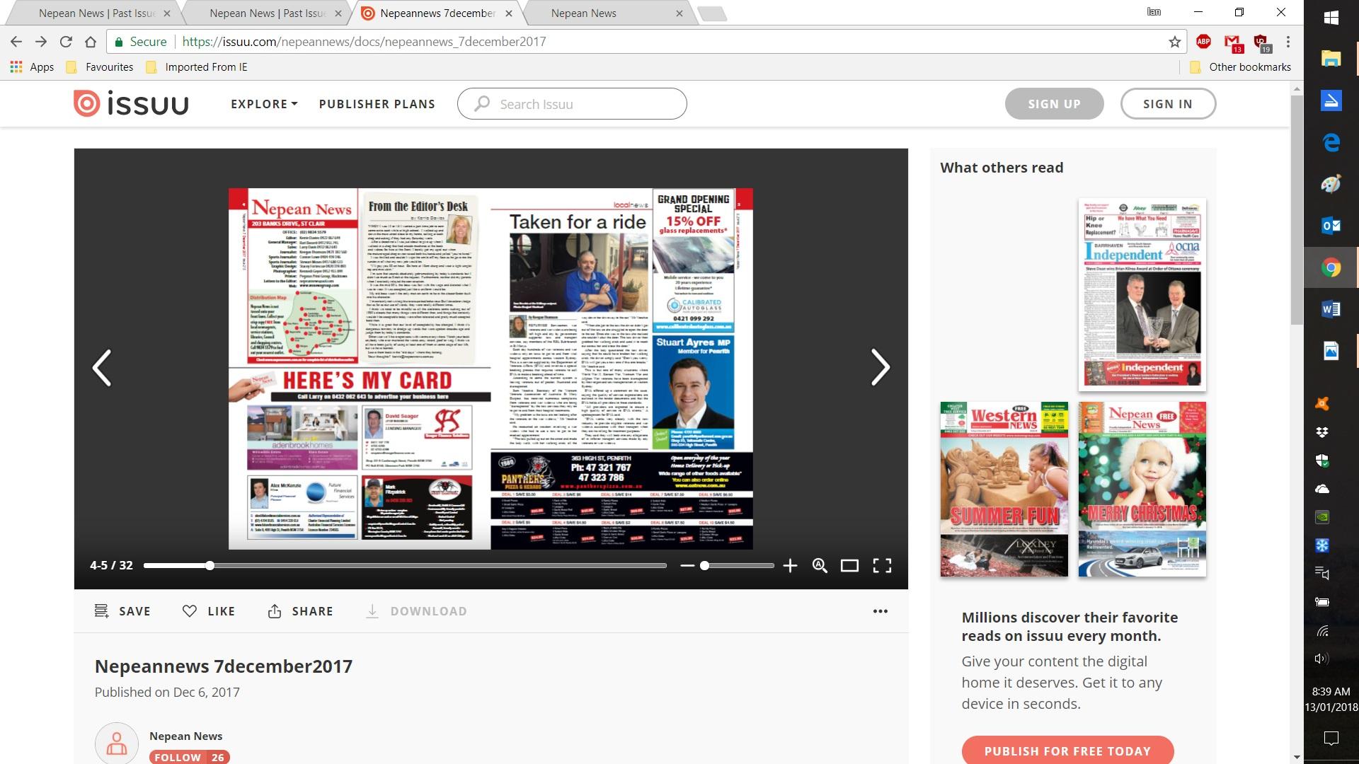 Nepean News Screenshot 2018-01-13 08.39.13