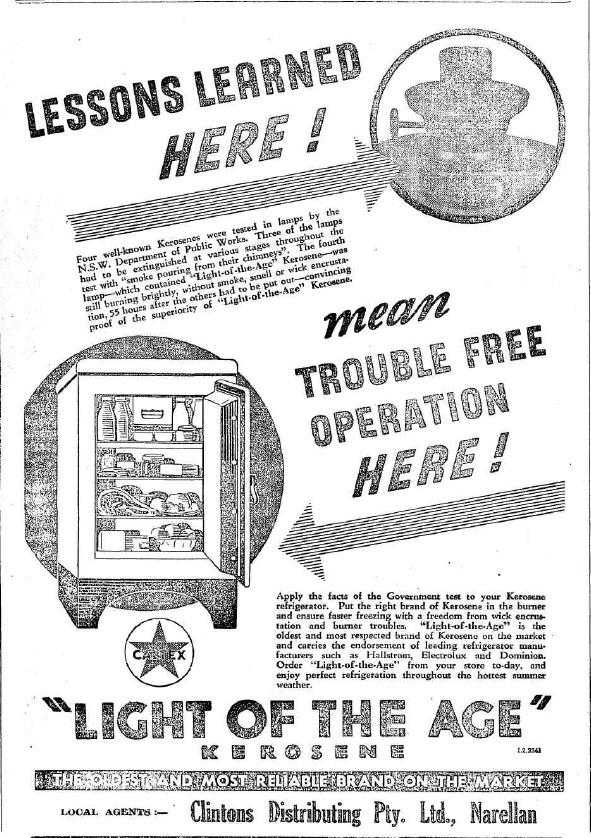 Retail KeroseneFridge Clintons CN 5 Jun1941