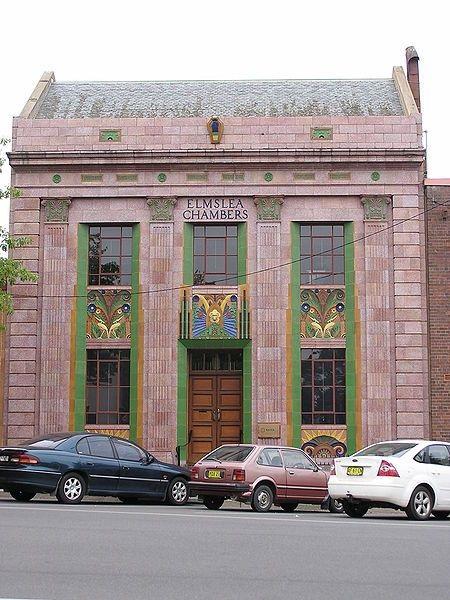 Goulburn Elmslea Chambers 17 Montague St des. LP Burns 1934