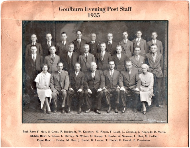Goulburn Evening Post Staff 1935 GEP[2]