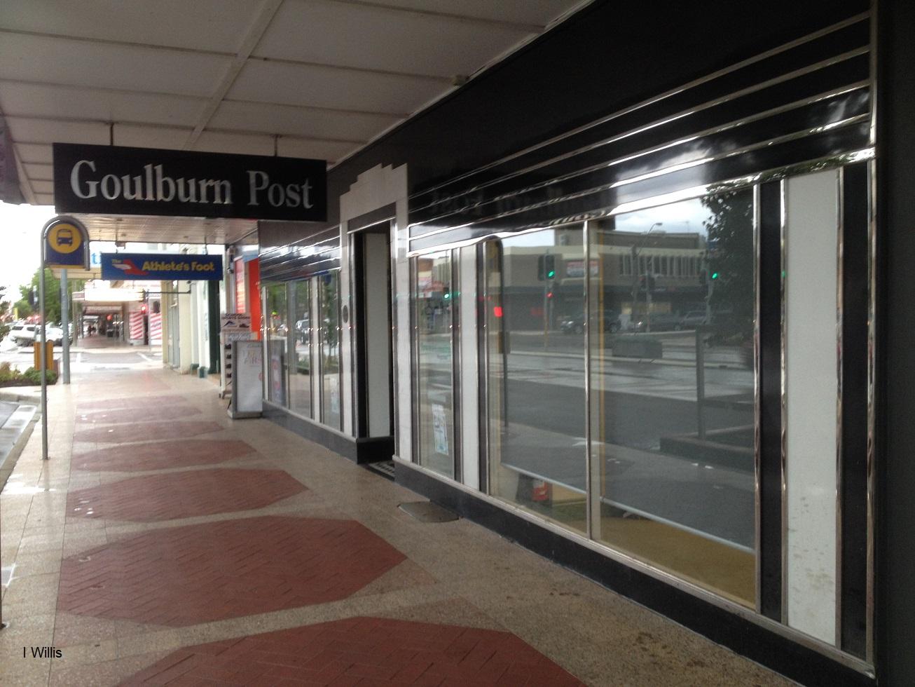 Goulburn Post newspaper Office 1935 shopfront lowres