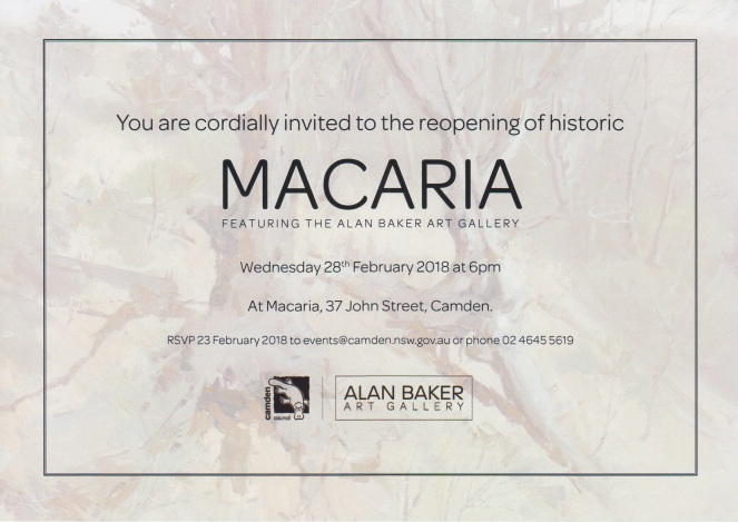 Camden Macaria Opening Invitation 2018Feb28
