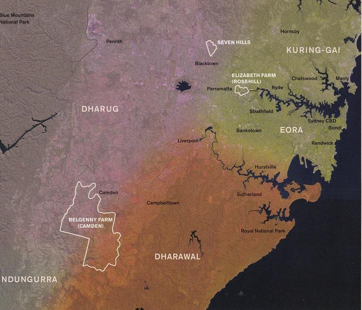 Map Aboriginal Groups Sydney 2005 Belgenny Farm lowres