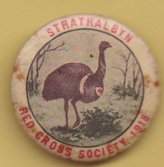 Red Cross Australia Day 1918 fundraising emu Pinterest