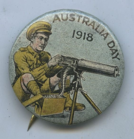 Red Cross Australia Day 1918 fundraising Vickers Machine Gun Pinterest
