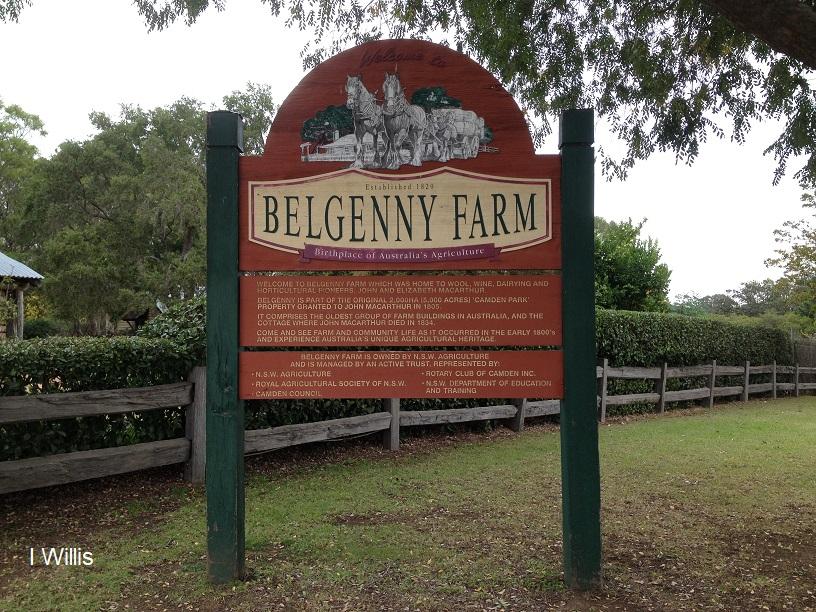 Camden Belgenny Farm 2018 sign