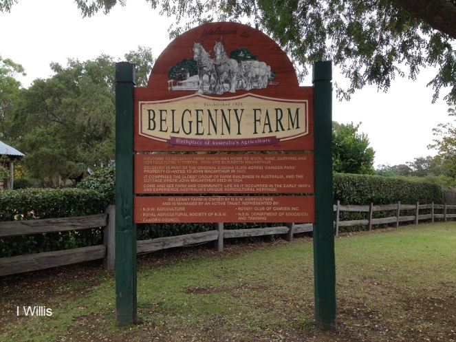 Camden Belgenny Farm 2018 sign