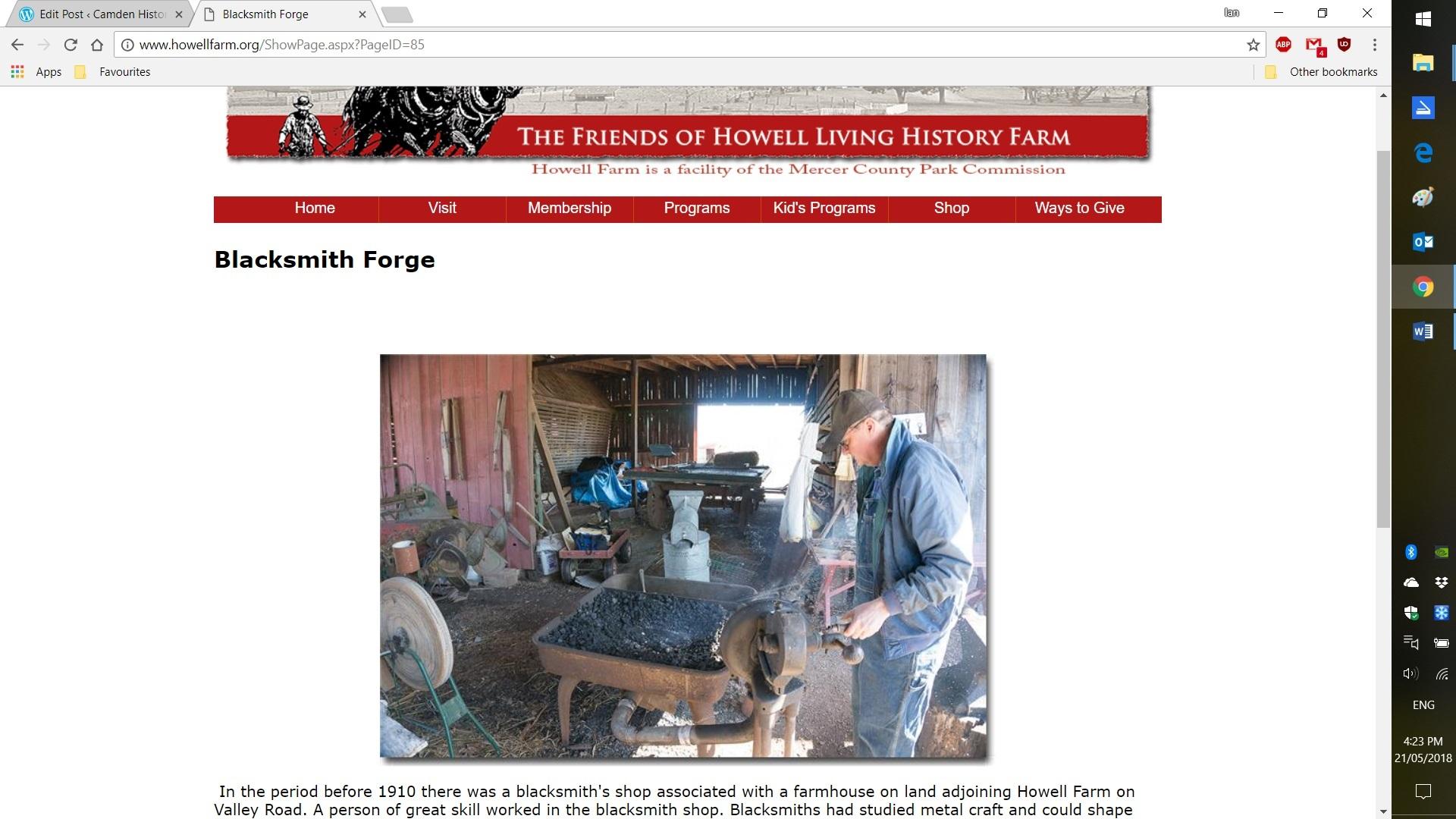 Howell Farm ScreenShot 2018 blacksmithing
