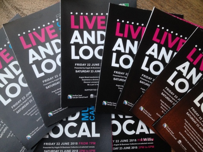 Camden Live & Local 2018 Signage programmes