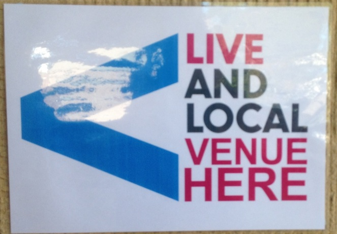 Camden Live & Local 2018 Signage Venue Here