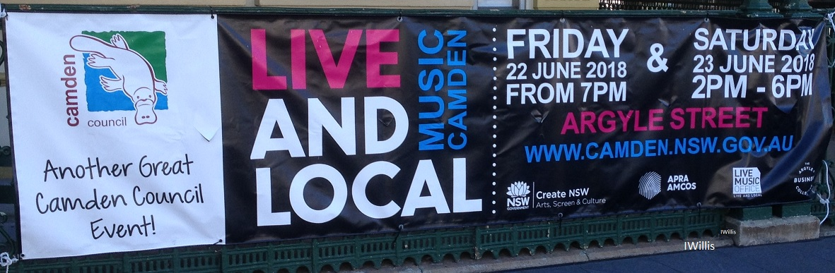 Camden Live & Local 2018 Signage