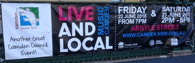 Camden Live & Local 2018 Signage