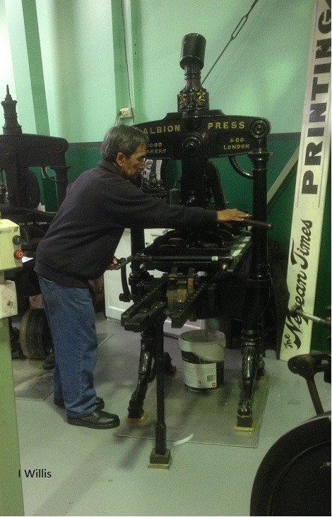 Penrith Museum of Printing Albion Hand Press 2018