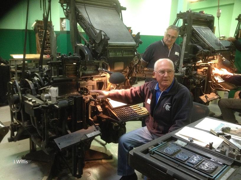 Penrith Museum of Printing Linotype Machine 2018