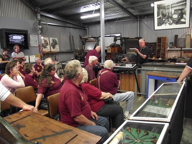 Penrith Museum of Printing Tour group 2017