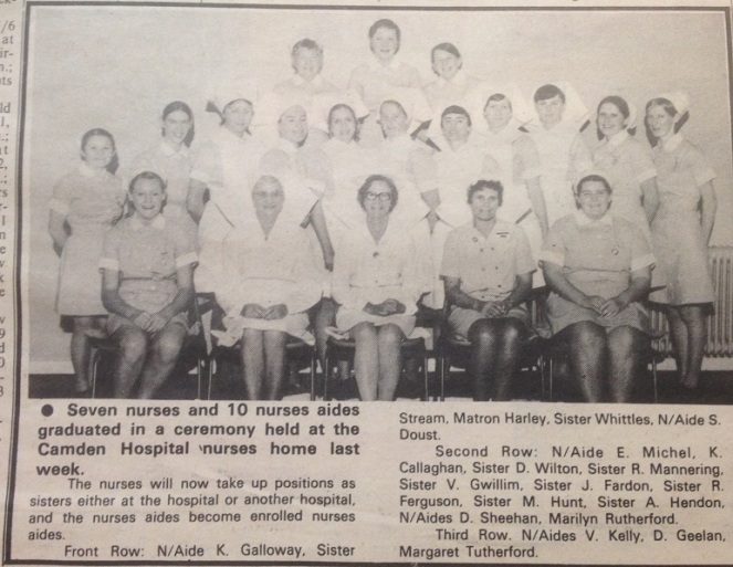 Camden Hospital Nurses Graduation CamdenNews 1974Jun26