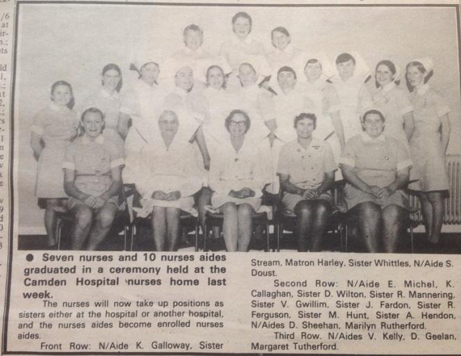 Camden Hospital Nurses Graduation CamdenNews 1974Jun26