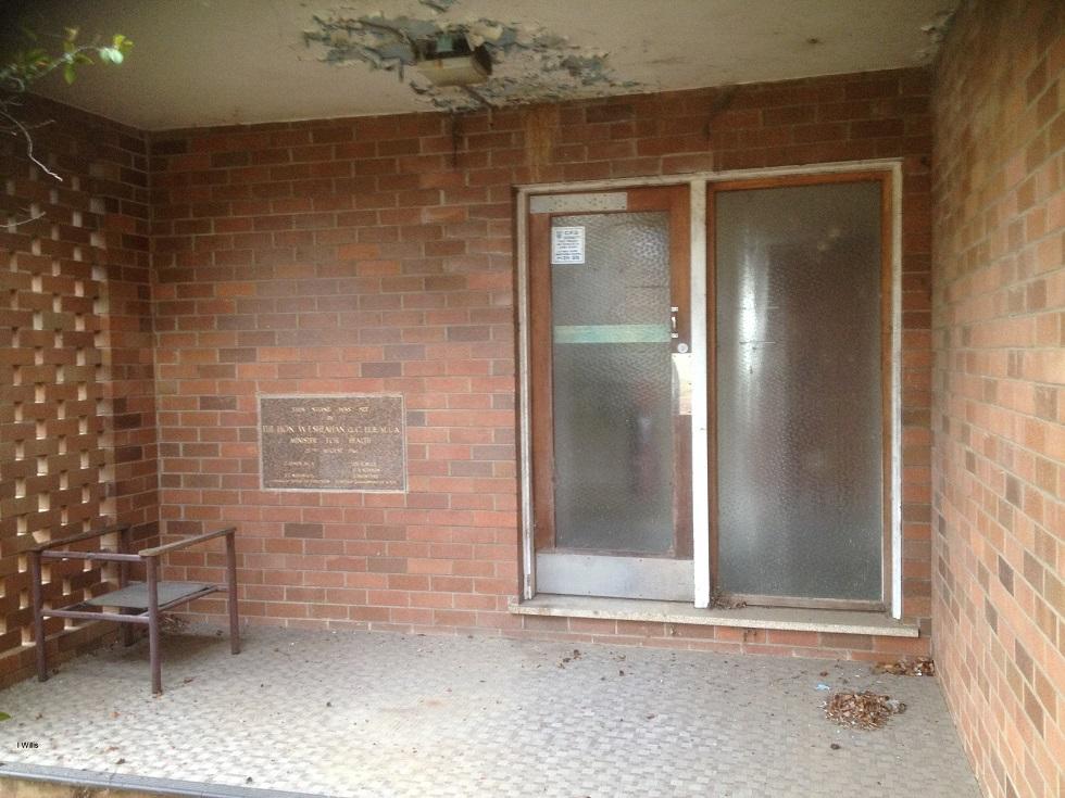 Camden Hospital Nurses Home Lower Entry & Foundation Stone 2018 IWillis