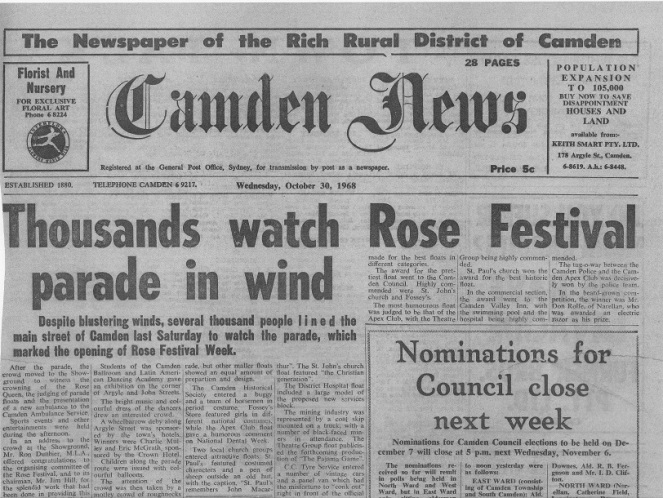 Camden News Rose Festival 1968 CN1968Oct30_lowres